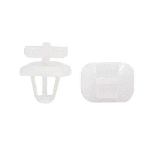 Amazon.com: eDealMax 50pcs 8 mm agujero Blanco remaches de plástico recorte Sujetador pegatina de Clips de retención Para el coche: Automotive