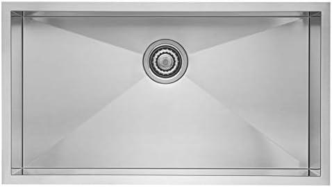 Blanco 515820 Precision R0 Super Single Undermount Kitchen Sink, 16-Inch, Stainless Steel