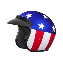 Studds JETSTAR Classic D1 Captain America Open Face Helmet (Blue, XL)