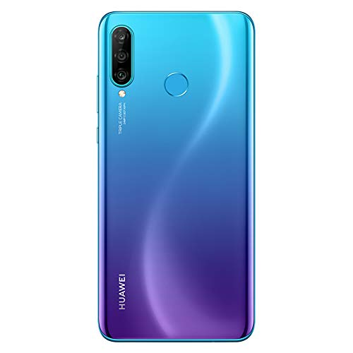 Huawei P30 Lite Smartphone(128GB, 6GB RAM) 6.15 inch Kirin 710 Octa Core,AI Triple Camera,32MP Selfie 4Cameras,Dual SIM US+Latin 4G LTE GSM Factory Unlocked-International Version(Garland Blue