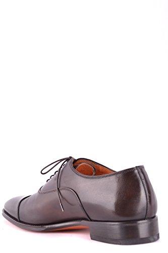 Santoni Uomo Mcbi267033o Scarpe Stringate In Pelle Marrone