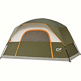 CAMPROS Tent 6/8 Person Camping Tents, Waterproof Windproof Family Dome Tent with Top Rainfly, Large Mesh Windows…