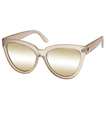 Le Specs Women's Liar Liar Sunglasses, Matte Stone/Gold Revo, One - Specs Le Eyewear