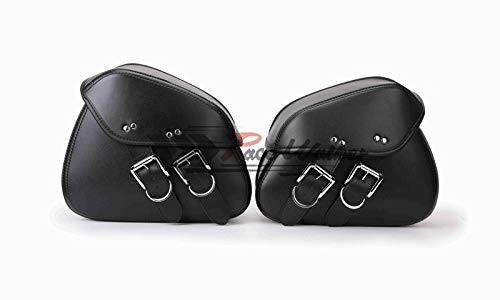 (SOMITI | Leather & Saddle Bags | Shipping Motorcycle PU Leather Saddle Side Tool Bags Saddle Bag for Motorcycle Luggage and Accessories)