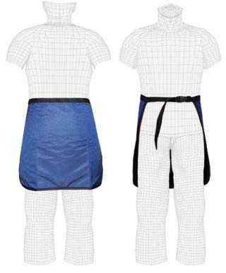 Quick Ship Lap-Guard X-Ray Half Apron, 0.5mm Pb Regular Lead, Buckle Closure, Large