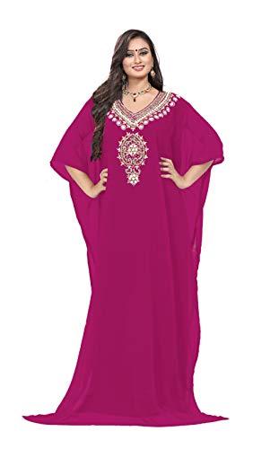 KoC Women's Kaftan Maxi Dress Farasha Caftan KFTN120-Magenta for sale  Delivered anywhere in USA
