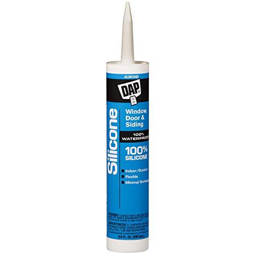 DAP 08649 10.1-Ounce Window and Door 100% Silicone Rubber Sealant, Almond ()