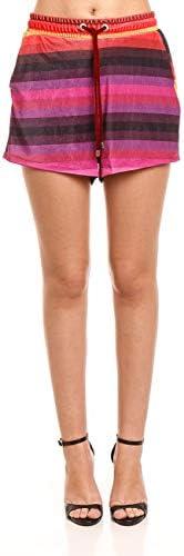 Shorts ,Veludo Estampado, Forum, Feminino