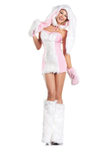 Bugs Bunny Female Adult Costumes (PINSE Sexy Womens Blushing Bunny Costume)