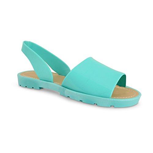 Footwear Sensation - Sandalias para mujer - Green Nude