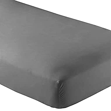 2 Twin XL Fitted Bed Sheets (2-Pack) - Twin Extra Long, 15  Deep Pocket, 39  x 80 , (Twin XL, Grey)