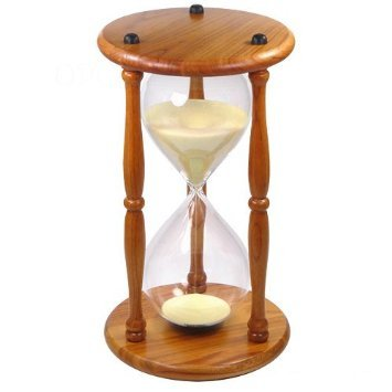 UPC 748144694012, Lily's Home Hourglass Timer 60 Minute Oak Wood Sand Clock 9.5 Inch