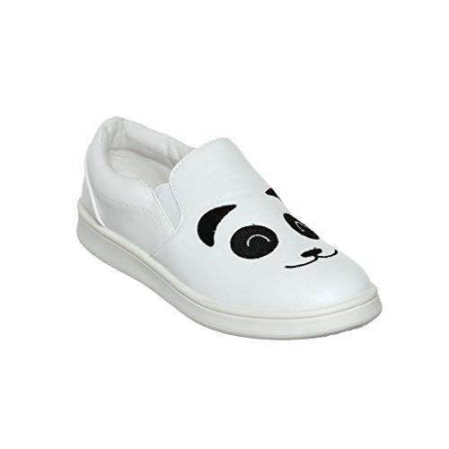 Kvinna Djur Tema Slip-on Loafer Mode Sneaker Whtcrp