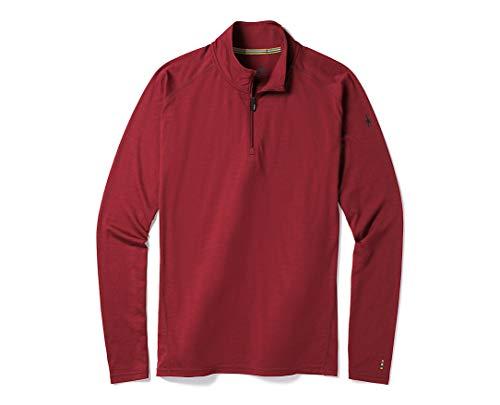 Smartwool Men's ¼ Zip Pullover - Merino 150 Wool Sweater Tibetan Red