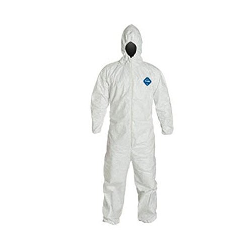 Tyvek Disposable - Tyvek Disposable Suit by Dupont with Elastic Wrists, Ankles and Hood (3XL)
