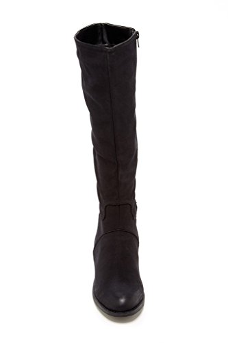 Bucco Catrina Femmes Bottes Hautes De Mode Noir
