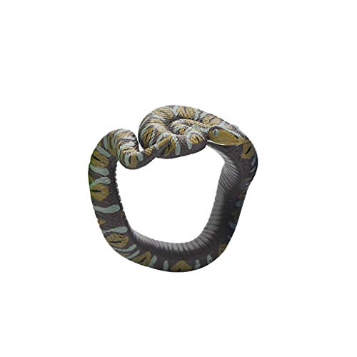 Nivalkid Simulation Resin Animal Python Bracelet Handmade Painted PVC Material Toy Hand-painted Environmentally Friendly PVC Material Eur and Am Scary Spoof Toy Jewelry (G)
