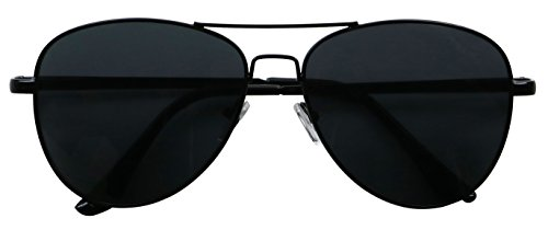 Basik Eyewear - Classic All Black Pilot Aviator Metal Tear Drop Casual - Shipping Sunglasses Drop