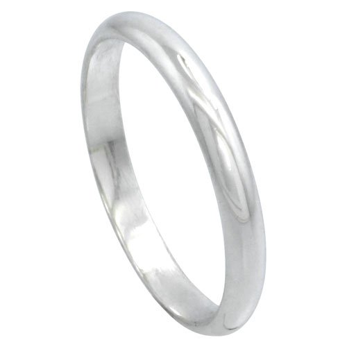 Sterling Silver High Wedding Thumb