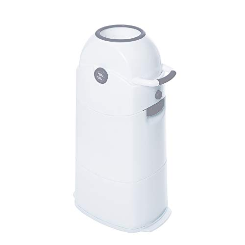 Diaper Champ Odour-Proof Nappy Bin Medium Silver for Standard Rubbish Bags