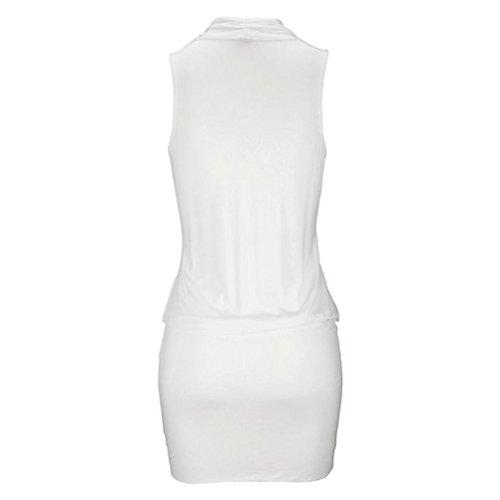 t Femme Sexy Sun Dcontract V sans Plage Mini Plage Blanc Robe Manches Cou Noir Dames Robe Plage Parti Guesspower 44 Dress 36 Rtro Chic S XXL Blanc zInXqAqd