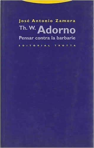 Amazon.com: Th. W. Adorno. Pensar contra la barbarie: JOSE ...