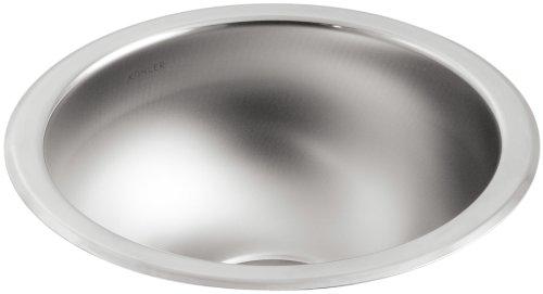 7' Undermount Bar Sink - KOHLER K-3339-NA Undertone Undercounter Kitchen Sink, Stainless Steel