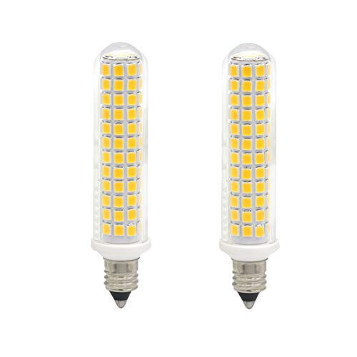 Ylaide E11 led Light Bulb 100W Halogen Bulbs Equivalent 1300lm, t4 jd e11 Mini Candelabra Base 110V 120V 130V Input 100W Halogen Replacement, Pack of 2 (Warm White 3000K)