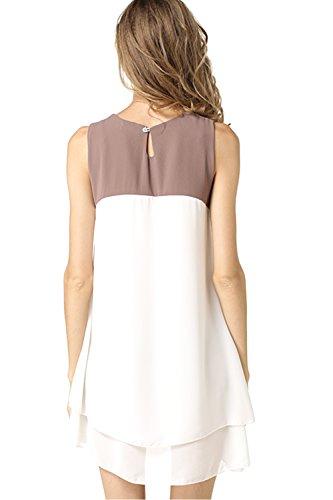 Patchwork elegante Mini vestido Casual de las mujeres