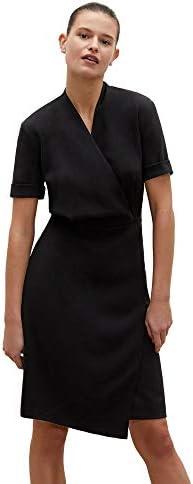 M.M.Lafleur Women`s Tory Short Sleeve V-Neck Wrap Dress Black