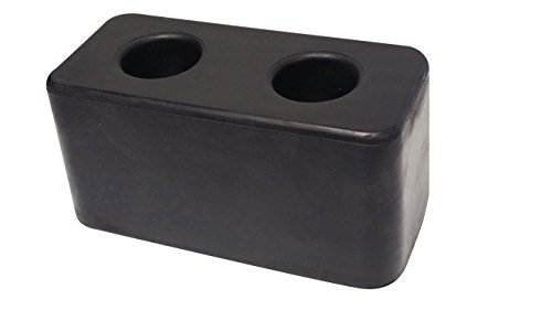 "Rubber Molded Dock Bumper for Truck, Trailer & Loading Bays 3""X3""X6"""