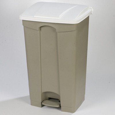 Step-On 12-Gal Rectangular Waste Container Color: White, Size: 23 Gal