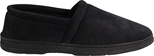 Bopj - Mens Memory Foam Thinsulate Bekleed Waterafstotend Slipper Zwart A-lijn