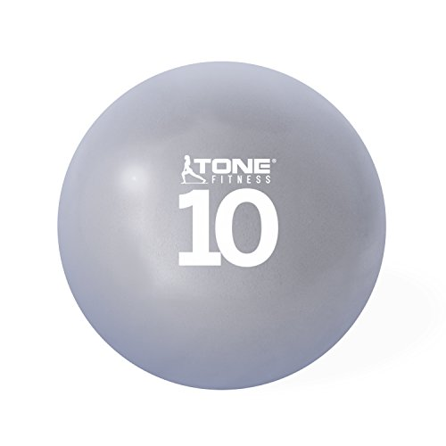 Tone Fitness HHKC-TN010 Soft Weighted Toning Ball, 10 lb