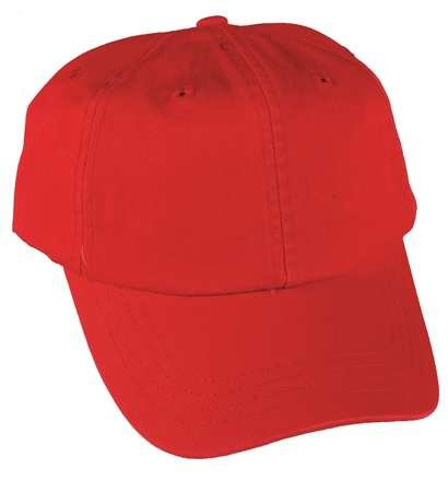 Baseball Hat, Red, Adjustable
