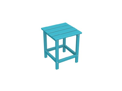 Recycled Plastic Long Island 18'' Side Table by Polywood Frame Color: Aruba by Poly-Wood Adirondack