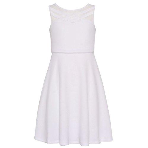 Bonnie Jean Girls' Big' Fit and Flare Fashion Dress Bright White 7