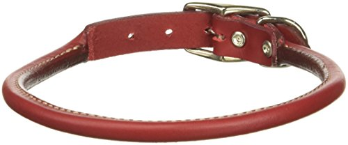 Coastal Pet Products Circle T Oak Tanned Leather Round Dog Collar, 3/4