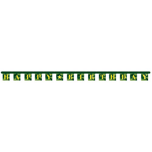 Creative Converting Camo Gear Happy Birthday Jointed Party Banner -