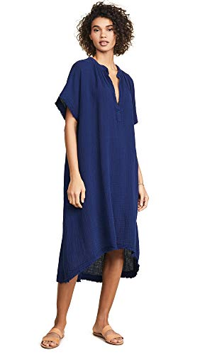 9seed Women's Tunisia Cover Up Caftan, Pacific, Blue, One Size