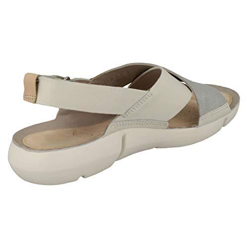 Cinturino Sandali Tri Con Alla Chloe Clarks White Caviglia Donna nIFqCU