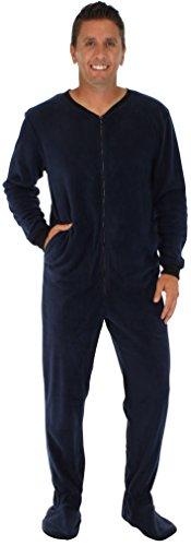 PajamaMania Men's Adult Fleece Footed Onesie Pajama Jumpsuit