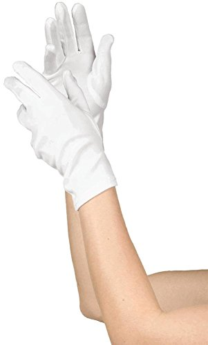 Women's White Short Gloves (Child Short White Gloves)
