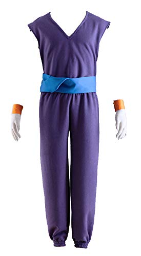 CHIUS Cosplay Costume 'Ma Junior' Piccolo Training Unifrom Outfit Version 1 Purple, Blue -