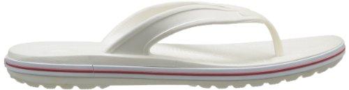Crocs Crocband Flip LowPro - Sandalias de dedo, unisex Bianco (White/Red)