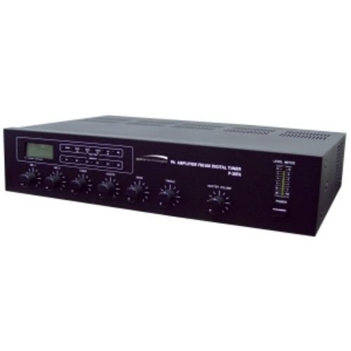 Speco P-30FA 30W P.A. Amplifier with 30 Preset Digital FM/AM Tuner