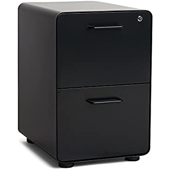Amazon Com Poppin Black Stow 3 Drawer File Cabinet