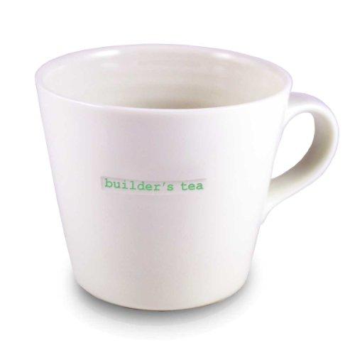 Builders Bucket - Keith Brymer Jones  'builder's tea' Word Range Large Bucket Mug, 16.9 fl oz - White