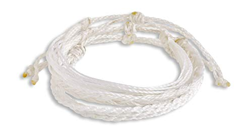 Hola Hola Boho Bracelets, Friendship Bracelets, Friendship Bracelet, Braided Bracelet, Thread Bracelets, Friendship Bracelets for Women, Girls, Men, Handmade Bracelets, Woven, Pack, Jewelry (White)
