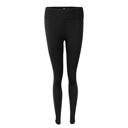 Mujer Entrenamiento de Disfraz Homyl Deportes Yoga negro Atlético Fitness Cómoda Pantalones Tropical Ropa Ropa Gimnasio wqEIIvU5